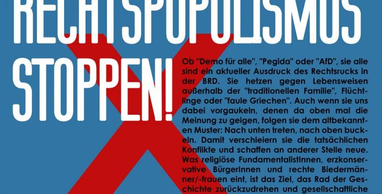 Kampagne: Rechtspopulismus stoppen!