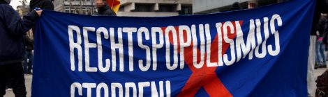 Kundgebung gegen Rechtspopulismus