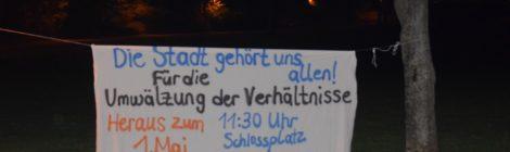 [Stuttgart] Transparentaktionen zum 1. Mai