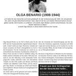 Tafel - Olga Benario