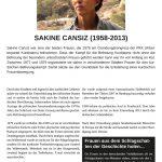 Tafel - Sakine Cansiz
