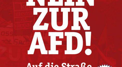 Gegen die AfD! Auf die Straße gegen Rechts!